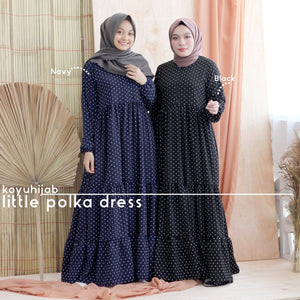 Baju Gamis Little polka Dress
