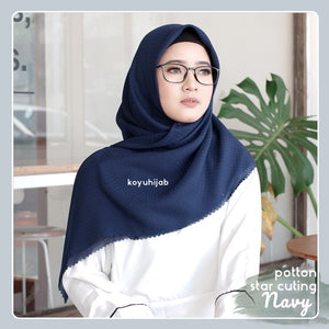 hijab segiempat POTTON STAR PART 1 lasercut