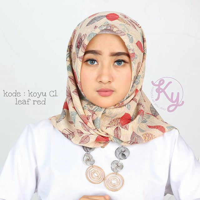 Hijab Segiempat Finey C1 Red