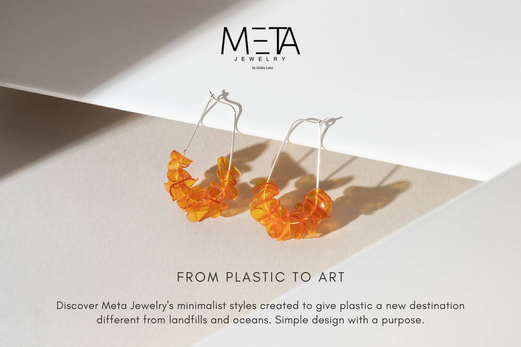 Meta Jewelry 14k Gold Filled Orange Hoop Earrings