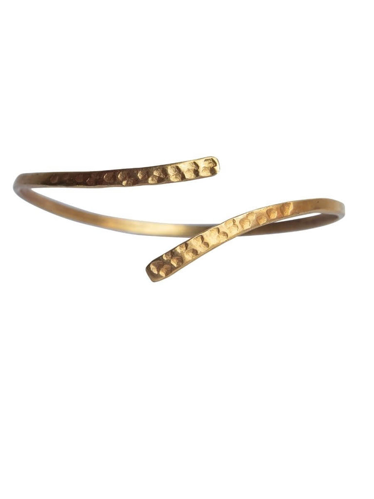 Hammered Coil Bangle