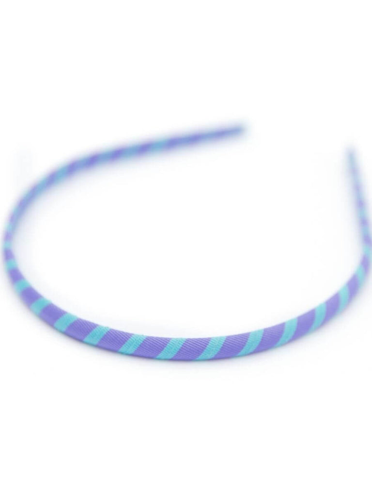 NARROW GROSGRAIN HEADBANDS-LOLLIPOP COLORS