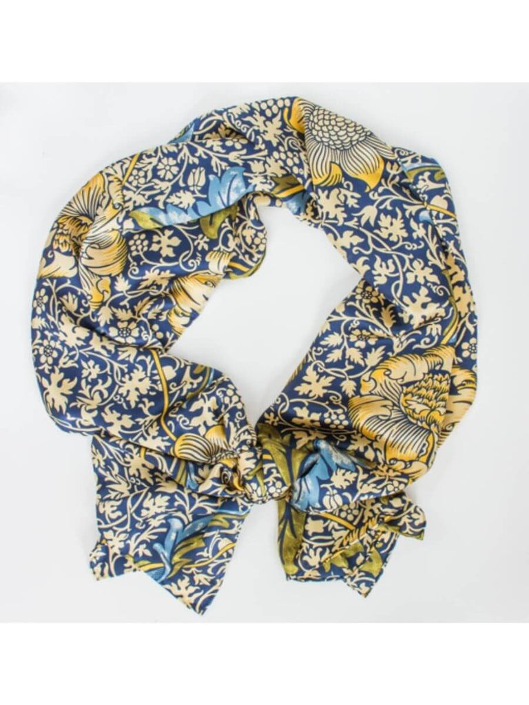 Sunflowers On Blue Scarf