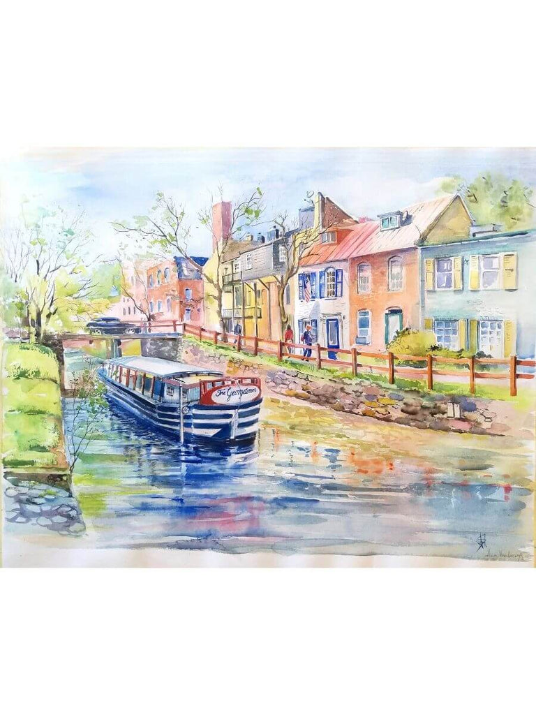 Canal Georgetown Watercolor