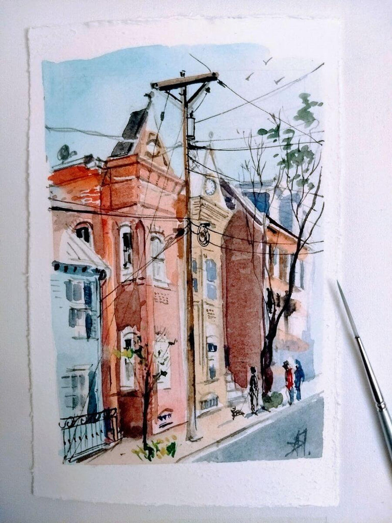 Old Town Alexandria Watercolor