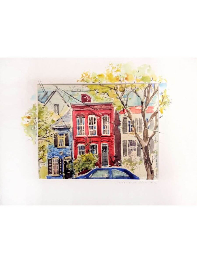Spite House Alexandria Watercolor