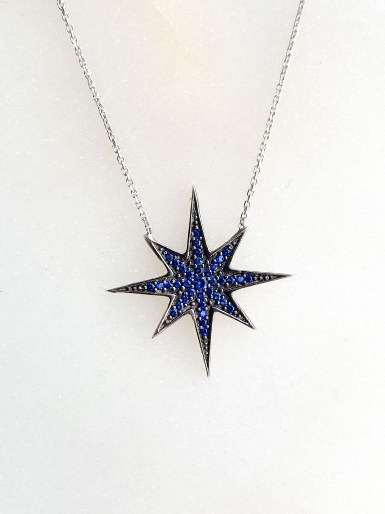 Small Good Vibe Necklaces-Bright Star - Navy Blue
