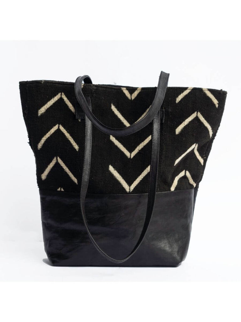 Black Fishbone Tote