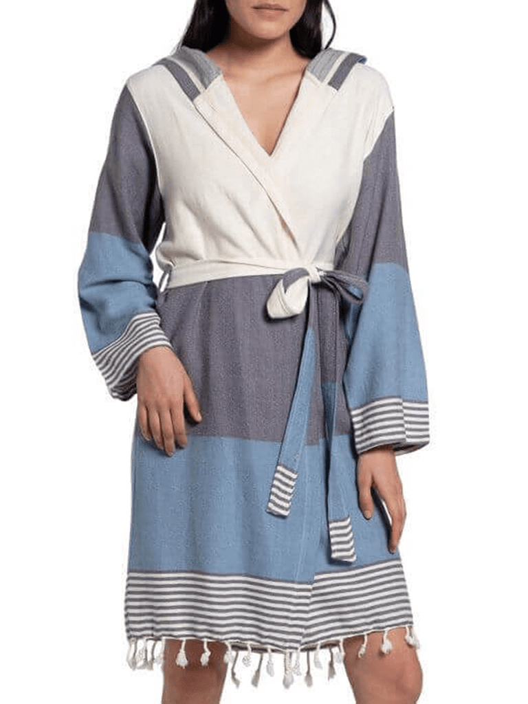Multi Color Short Turkish Robe