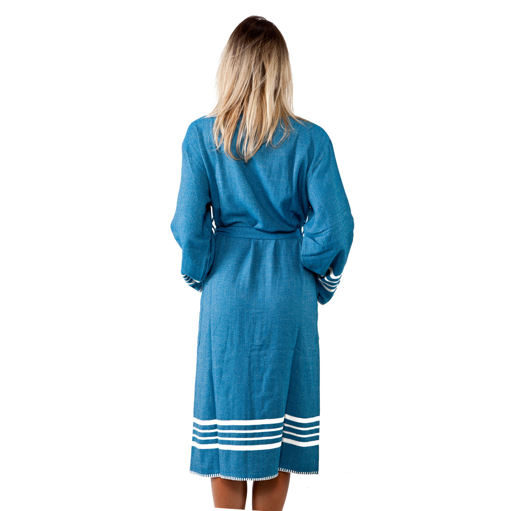 Farmhouse Turkish Towel Robe for Women