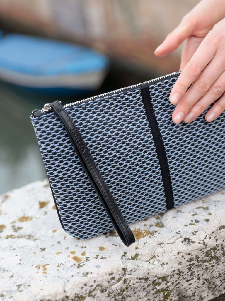 Gallia Velvet Tweed Clutch