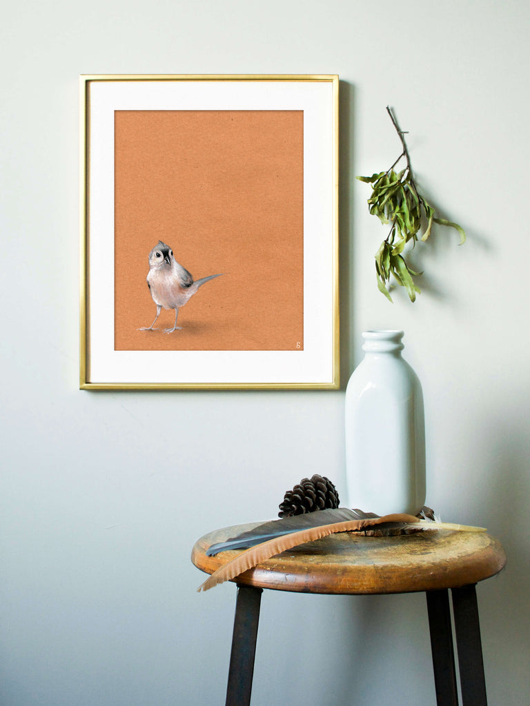 Tufted Titmouse Print