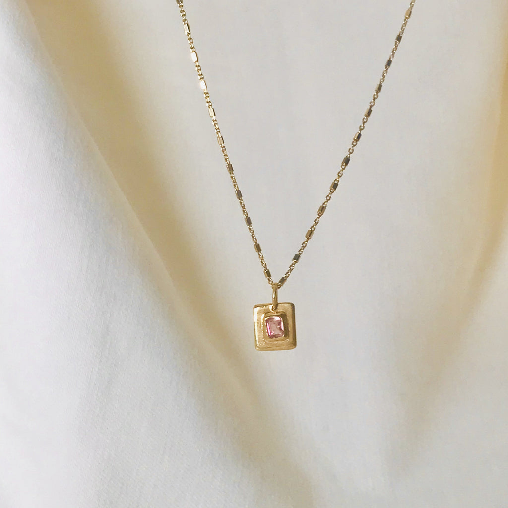 Tameka Pink Tourmaline Pendant Necklace