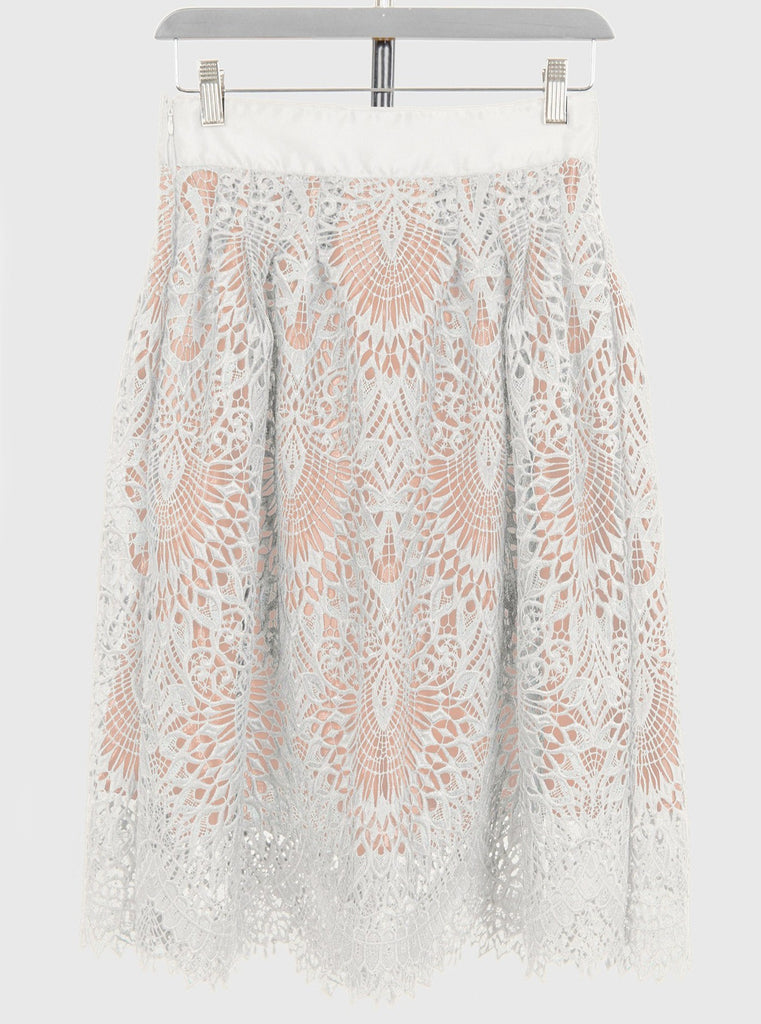 White Lace Victoria Skirt