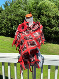 Red White Nuno Shawls