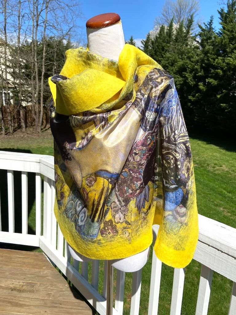 Yellow Beige Special Collection Shawls