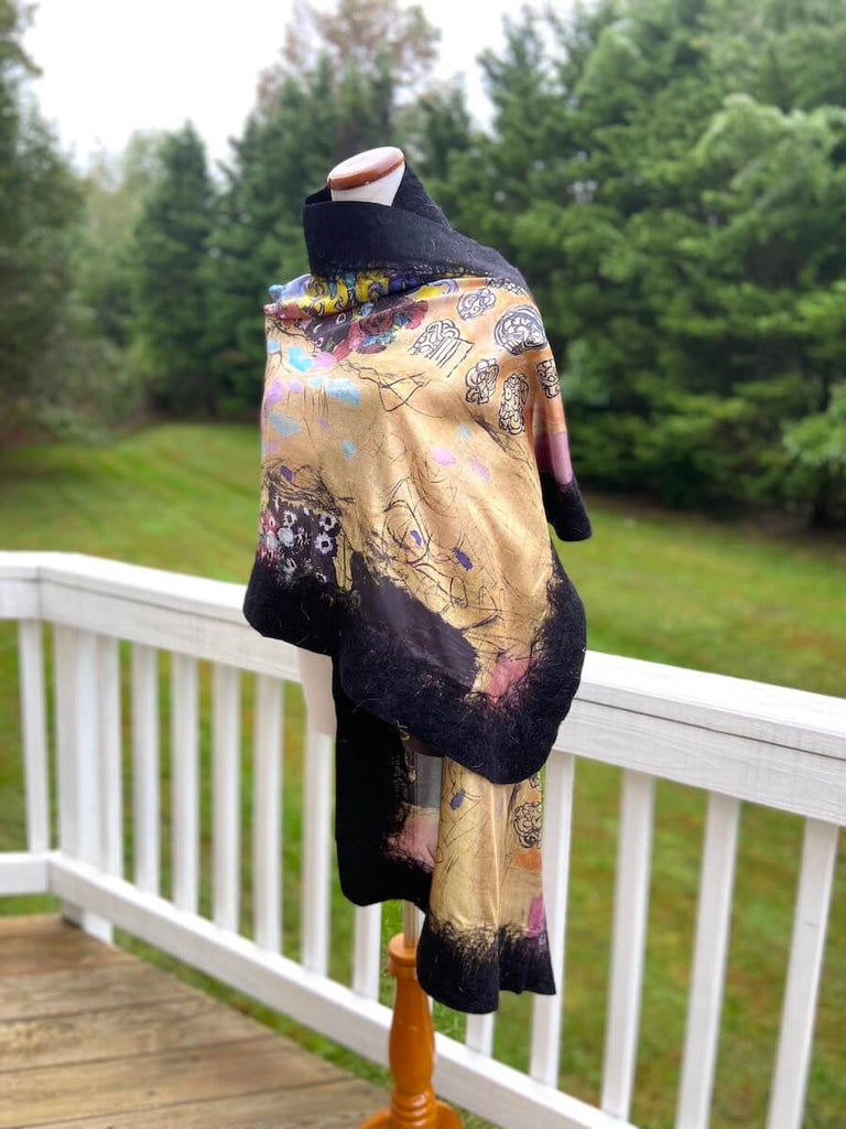 Black Beige Special Collection Shawls