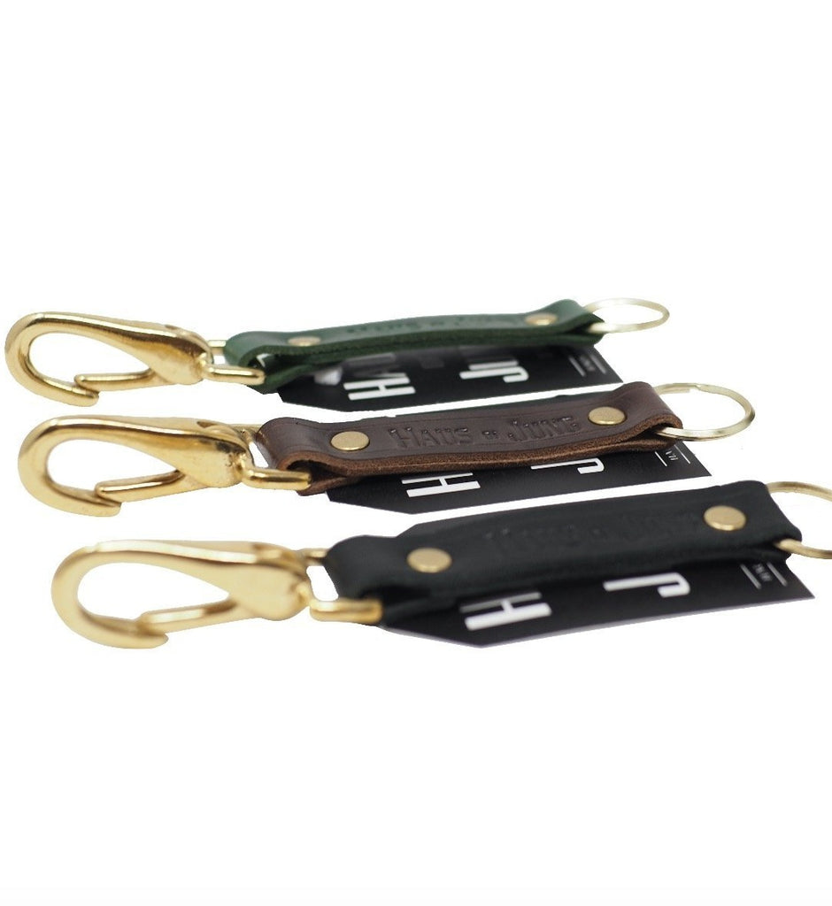 Leather Keychain | Cigar Brown