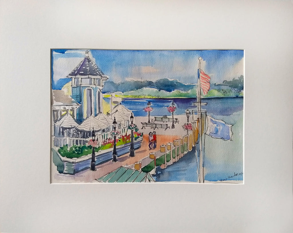 Waterfront, Alexandria Watercolor