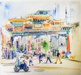 Chinatown, DC Watercolor