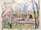 Key Bridge, DC Watercolor