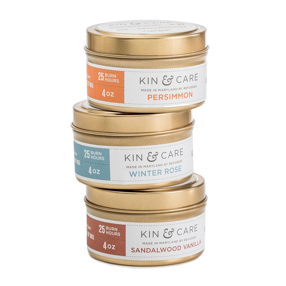 Winter Tin Candle Set