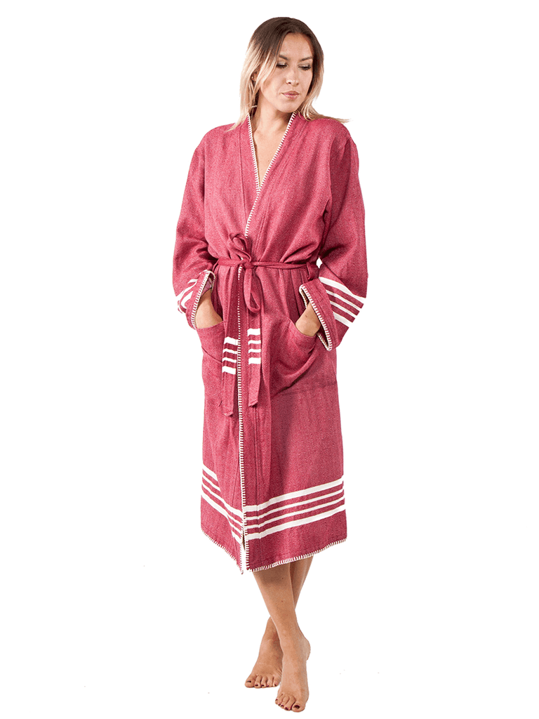 Farmhouse Turkish Towel Robe
