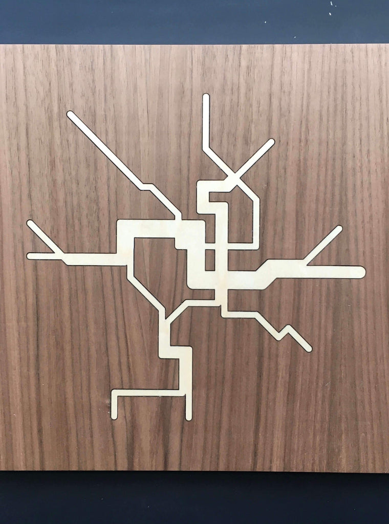 Metro Map Wall Plaque