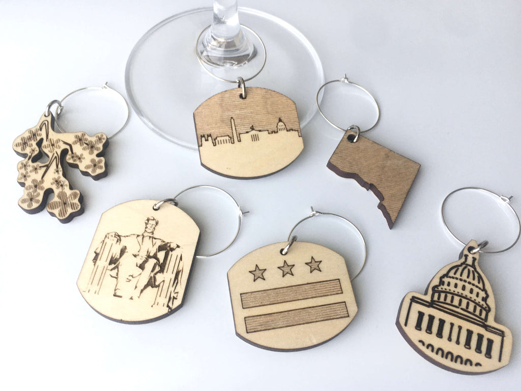 DC Wine Charms (Set of 6)