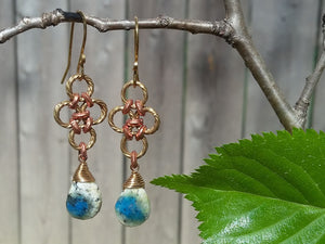 Brass & Copper K2Nite Earrings - crystalsbysabeads.com