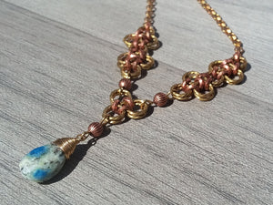 Brass & Copper K2Nite Necklace - crystalsbysabeads.com