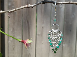 Sterling Silver Green Onyx 4 in 1 Earrings - crystalsbysabeads.com