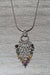Sterling Silver & Watermelon Tourmaline 4 in 1 Pendant Necklace - crystalsbysabeads.com