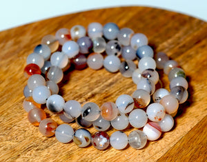 Dendritic Agate Bracelet 8mm - crystalsbysabeads.com
