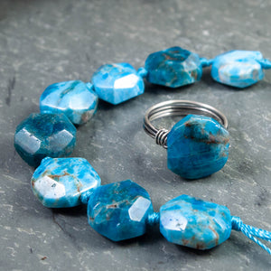 Apatite Faceted Round Nugget Ring - crystalsbysabeads.com