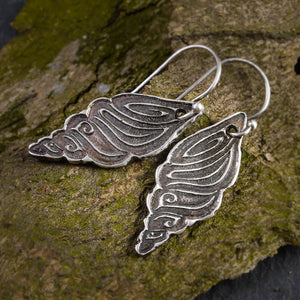 Fine Silver Conch Shell Earrings - crystalsbysabeads.com