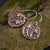 Deco Leaf Copper Earrings - crystalsbysabeads.com