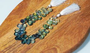 Fluorite Faceted Drop Strand - crystalsbysabeads.com