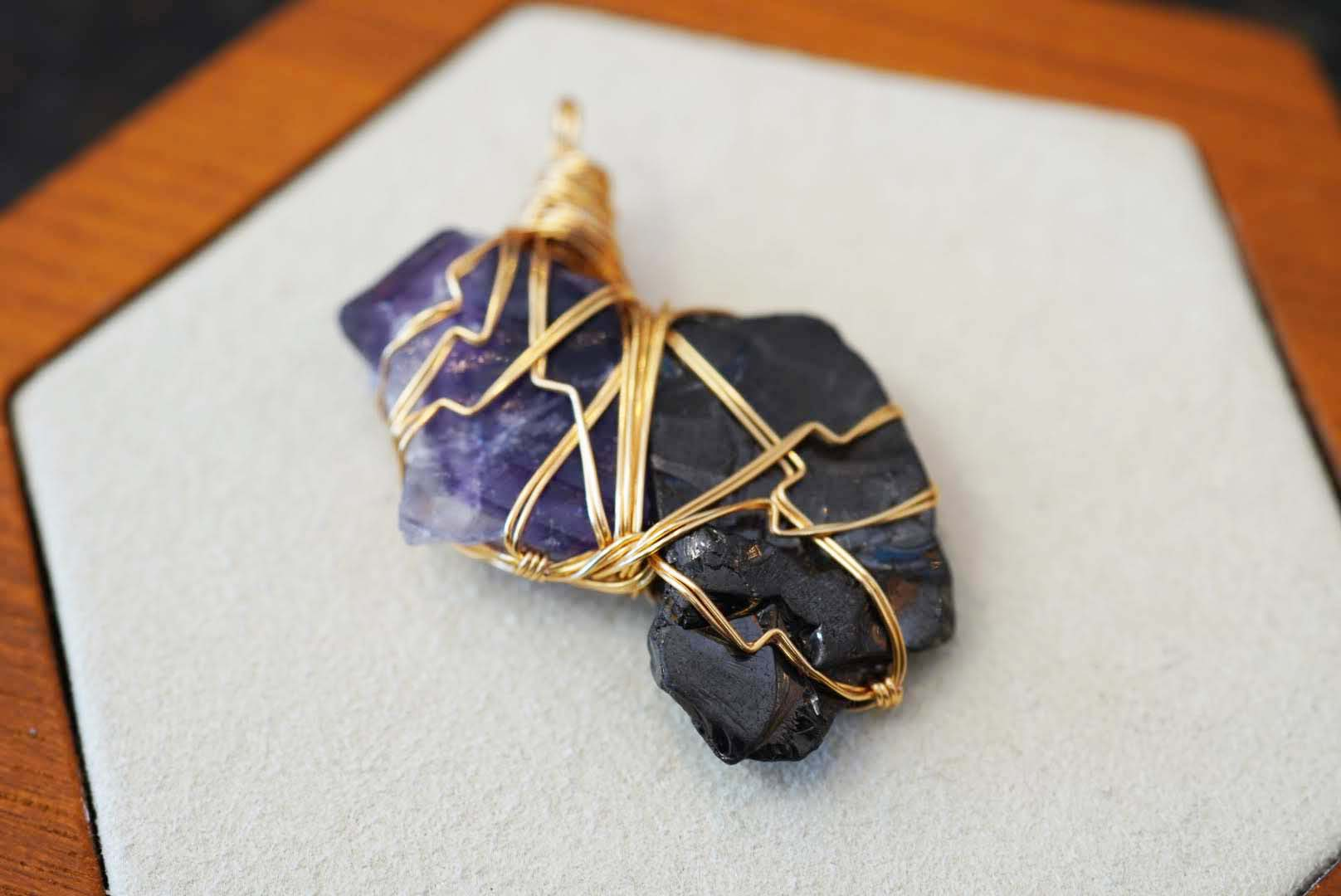 Unity Collection - Gold Fluorite & Shungite - crystalsbysabeads.com