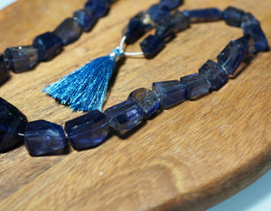Iolite Faceted Nugget Strand - crystalsbysabeads.com
