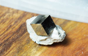 Pyrite Cube in Matrix - crystalsbysabeads.com