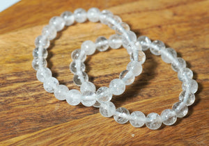 Clear Quartz Bracelet 8mm - crystalsbysabeads.com