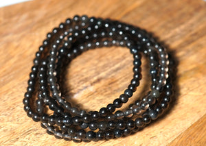 Smoky Quartz Bracelet 4mm - crystalsbysabeads.com