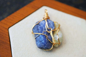 Unity Collection - Gold Tanzanite & Prehnite - crystalsbysabeads.com