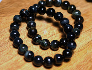 Blue Tigers Eye Bracelet 10mm - crystalsbysabeads.com