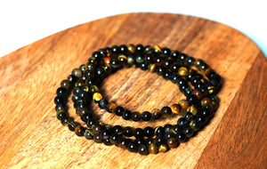 Tigers Eye Bracelet 4mm - crystalsbysabeads.com