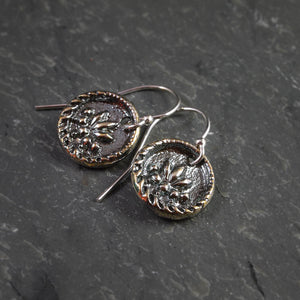Victorian Water Lily Fine Silver Earrings - crystalsbysabeads.com