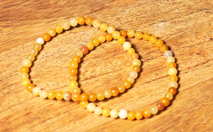Yellow Jade Bracelet 4mm - crystalsbysabeads.com