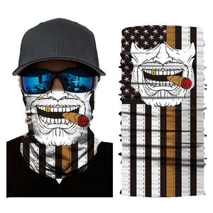 Unisex Bandanas Neck Gaiter Dust and Sun UV Protection (Cigar-1)