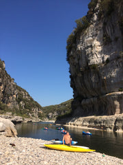 Paddling & swimming in the Ardech River, France